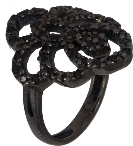 Μαύρο ασημένιο δαχτυλίδι με πέτρες 925 022922 022922 Ασήμι - Glami.gr 02064fa5ae1
