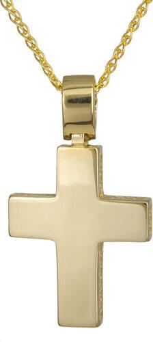 d0f36cd7d2c Βαπτιστικοί Σταυροί με Αλυσίδα Χρυσός αντρικός σταυρός Κ14 με ...