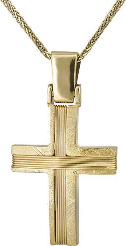 0401842895c Βαπτιστικοί Σταυροί με Αλυσίδα Ανδρικός σταυρός συρματερός Κ14 με ...