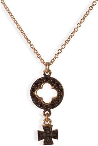 Paraxenies Κολιέ από ρόζ επιχρυσωμένο ασήμι με πέτρες ζιργκόν - Glami.gr 2c9dc4fd6b9