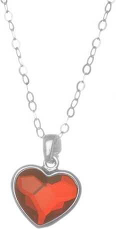 Paraxenies Κολιέ καρδιά από ασήμι 925 με πέτρα Swarovski - Glami.gr 8ab3cebf196