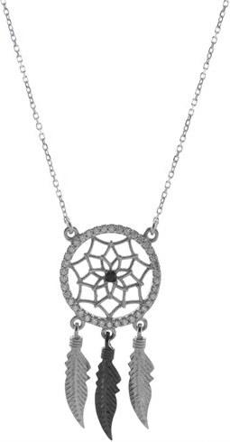 Paraxenies Κολιέ ονειροπαγίδα από ασήμι με πέτρες ζιργκόν - Glami.gr 89b126a2bcb