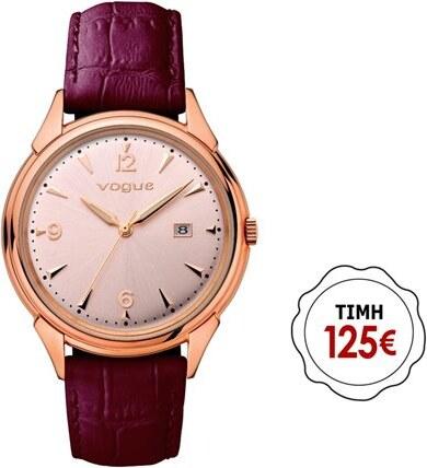 9e74867041 Paraxenies Γυναικείο ρολόι Vogue συλλογή Back to 50 s με δερμάτινο λουράκι  70301.6c