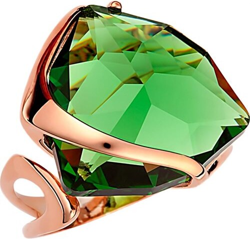 Paraxenies Δαχτυλίδι εντυπωσιακό με πέτρα Swarovski από ρόζ επιχρυσωμένο  ασήμι 8cbae5e0cef