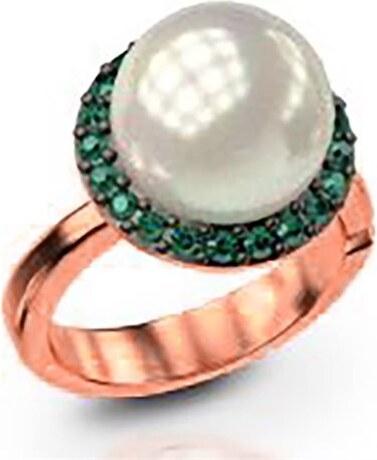 Paraxenies Εντυπωσιακό δαχτυλίδι συλλογή Bridal από ρόζ επιχρυσωμένο ασήμι  με εντυπωσιακή πέρλα και πέτρες swarovski e0aa2945efe