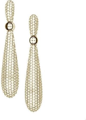 Paraxenies Εντυπωσιακά σκουλαρίκια συλλογή Corina από επιχρυσωμένο ασήμι με  πέτρες Swarovski 0452491590c