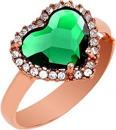 Paraxenies Δαχτυλίδι συλλογή Love καρδιά από ρόζ επιχρυσωμένο ασήμι με πέτρες  Swarovski 66e2202f45f