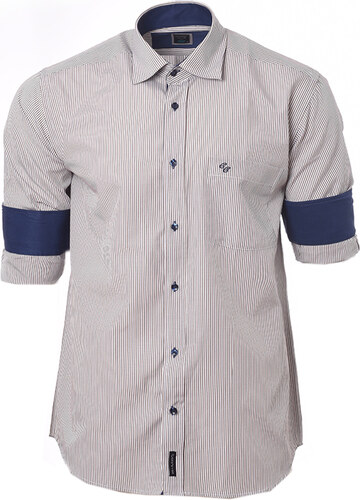 7e999d560925 Be-casual Ανδρικό Πουκάμισο CND G-Stripes ΜΠΕΖ SMALL - Glami.gr