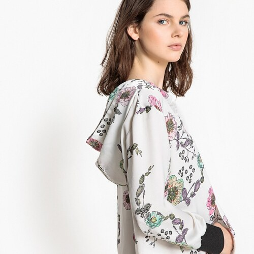 LA REDOUTE COLLECTIONS Φλοράλ φόρεμα με κουκούλα - Glami.gr 15ac824b5b8