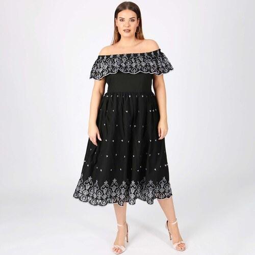 LOVEDROBE Εβαζέ φόρεμα με δαντελα 0eb51ab6b81