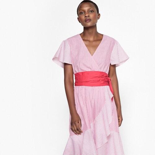 1f108b6ec1e LA REDOUTE COLLECTIONS Ριγέ φόρεμα με βολάν - Glami.gr