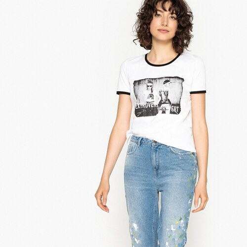 LA REDOUTE COLLECTIONS Μπλούζα με στάμπα μπροστά - Glami.gr fdd33756d02