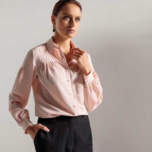 f3d1c44119e6 ANNE WEYBURN Κρέπ πουκάμισο - Glami.gr