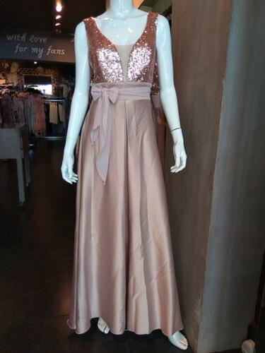 c24b536d48fa Maxi φόρεμα με παγιέτες και διαφάνεια στο μπούστο - Glami.gr