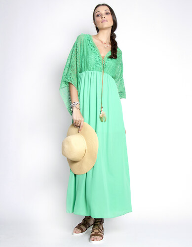 ba2045a65783 Issue Fashion Μάξι φόρεμα με δαντέλα στο πάνω μέρος - Glami.gr