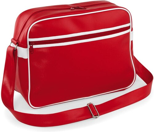 9827b573ab Bag Base Τσάντα Ώμου Retro Messenger Bagbase BG91 - Classic Red White