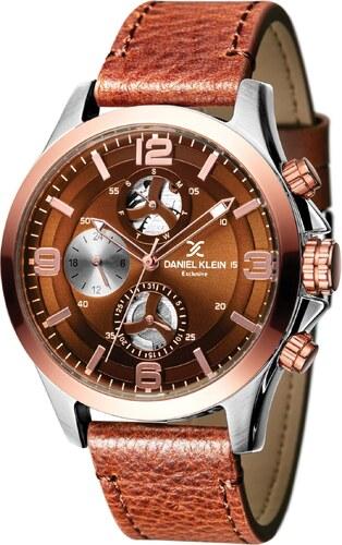 Ρολόι Daniel Klein Exclusive πολλαπλών ενδείξεων με καφέ λουράκι DK11356-2 ada54f7b761