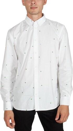 c99cfd5ea2bc Minimum Walther ανδρικό πουκάμισο λευκό με βούλες - Glami.gr