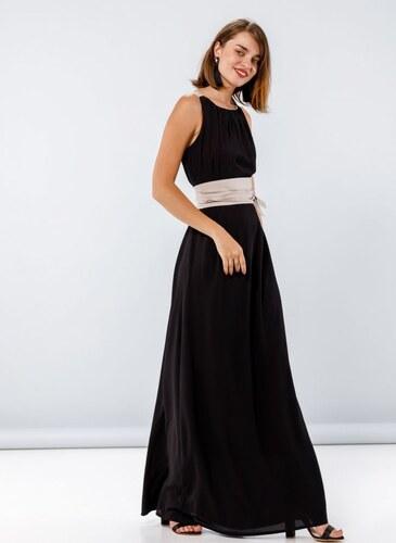 42a41e4c7bf0 Noobass Maxi αμάνικο φόρεμα με φαρδιά ζώνη - Μαύρο - 009 - Glami.gr