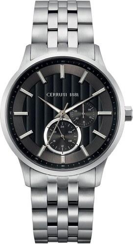 Ρολόι Cerruti Carzano με ασημί μπρασελέ και ημερομηνία CRA20808 ... dc0909c23b2