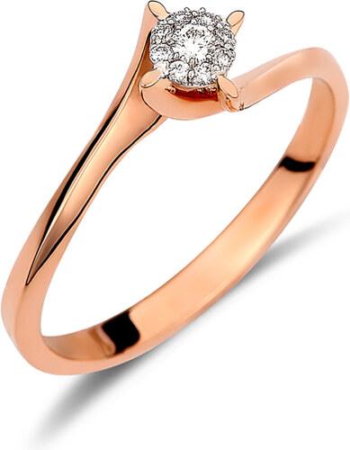 Haritidis Δαχτυλίδι illusion από ροζ χρυσό 18 καρατίων με διαμάντια. KV20967 dd3b4c10d66