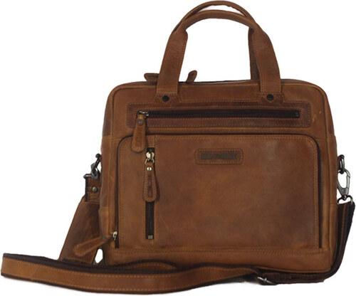 78a3167681 Hill Burry δερμάτινη τσάντα ώμου καφέ - Glami.gr