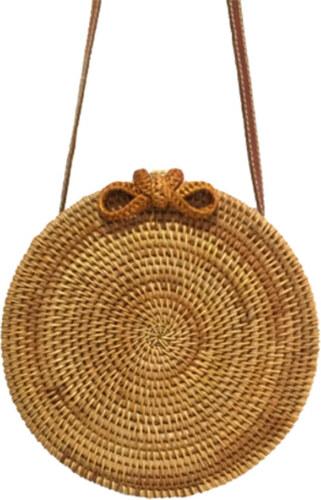 style Ψάθινη τσάντα σκληρή στρογγυλή - Glami.gr bc5ced89805
