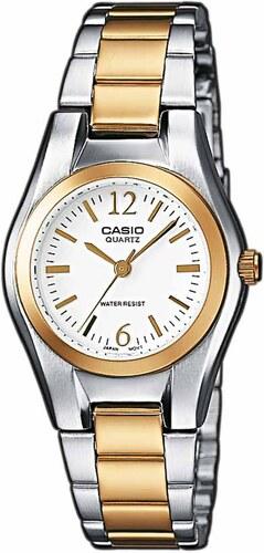 Γυναικείο ρολόι Casio Collection με ασημί και χρυσό μπρασελέ  LTP-1280PSG-7AEF cb0f0b7ebda