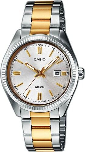 Γυναικείο ρολόι Casio Collection με ασημί και χρυσό μπρασελέ  LTP-1302PSG-7AVEF 1037a413e35