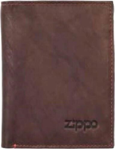 1391cbd879 Πορτοφόλι Zippo καφέ δερμάτινο για χαρτονομίσματα