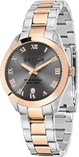 Ρολόι Sector Women Collection με ασημί ροζ χρυσό μπρασελέ και ημερομηνία  R3253588512 f73fe5e1f5e