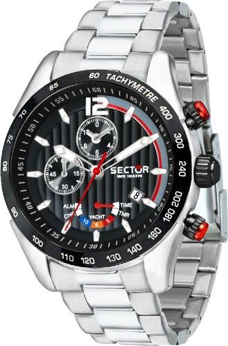 Ρολόι Sector 330 Yacht Timer πολλαπλών ενδείξεων με ασημί μπρασελέ  R3273794009 3a663f45f4a