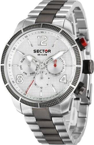 Ρολόι Sector 850 Racing πολλαπλών ενδείξεων με ασημί γκρι μπρασελέ  R3253575006 e371111e933