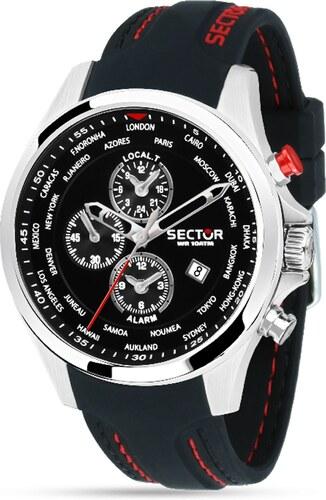 Ρολόι Sector 180 Contemporary πολλαπλών ενδείξεων με μαύρο λουράκι  R3251180022 c21b8986326