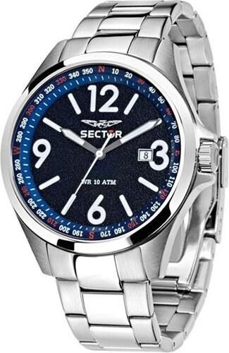 Ρολόι Sector 180 Contemporary με ασημί μπρασελέ και ημερομηνία R3253180002 645b684995a