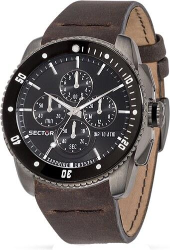 Ρολόι Sector 350 Racing χρονογράφος με καφέ λουράκι R3271903002 ... bfa892d5bef