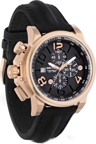 Ρολόι Sector 450 Action χρονογράφος με μαύρο λουράκι R3271776002 ... cd3f07af738