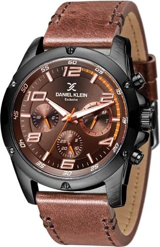 Ρολόι Daniel Klein Exclusive πολλαπλών ενδείξεων με καφέ λουράκι DK11351-5 cffbcbeaabf