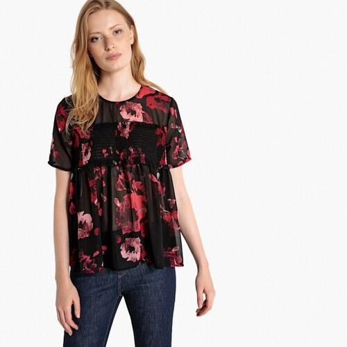 LA REDOUTE COLLECTIONS Εμπριμέ μπλούζα με σφηκοφωλιά - Glami.gr 924696745c1