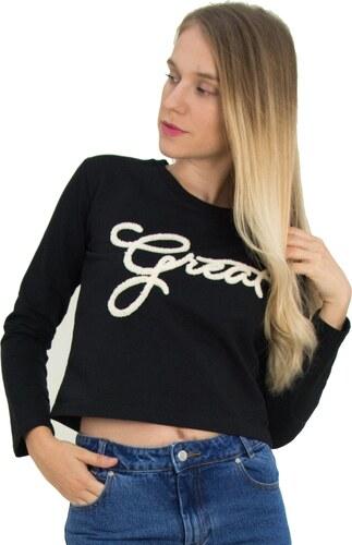 e931c5b92d78 OEM Γυναικείο μακρυμάνικο Crop Top μαύρο με γουνάκι 281249B - Glami.gr