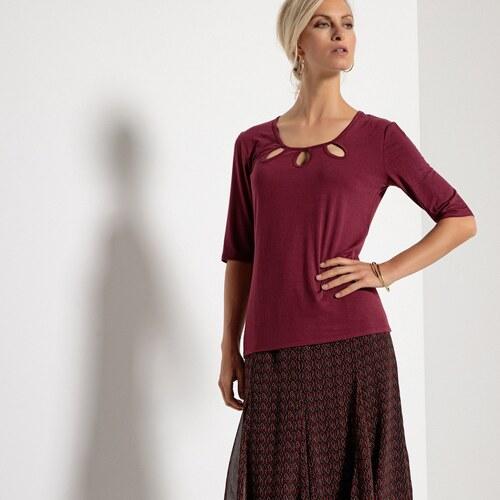 1ac5e831968 ANNE WEYBURN Στρετς ζέρσεϊ μπλούζα με στρογγυλή λαιμόκοψη - Glami.gr