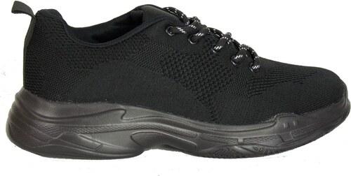 0025356d0c9 Huxley & Grace Ανδρικά μαύρα αθλητικά παπούτσια με αερόσολα 6679 ...