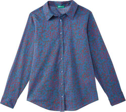 5ef26f795db BENETTON Long-Sleeved Floral Print Shirt - Glami.gr