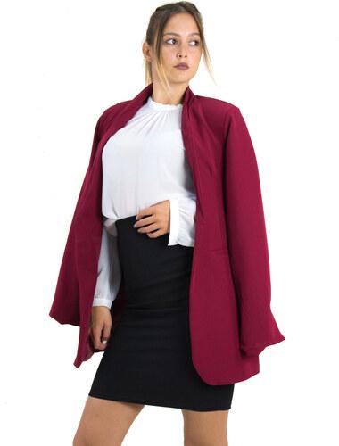 Γυναικείο σακάκι Oversize Benissimo μπορντό με βάτες 64453 - Glami.gr 3aa82aff1b5