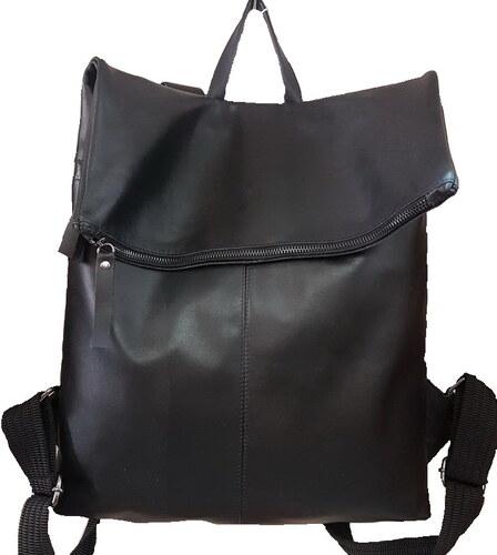 Δερμάτινη τσάντα πλάτης από μαλακό δέρμα (ΧΡΩΜΑ ΜΑΥΡΟ) - Glami.gr d8002f26804