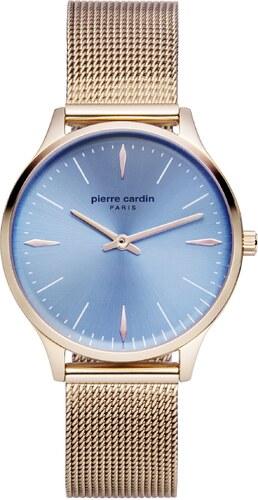 Ρολόι Pierre Cardin με ροζ χρυσό μπρασελέ και γαλάζιο καντράν PC902282F15 ddc030ded5f