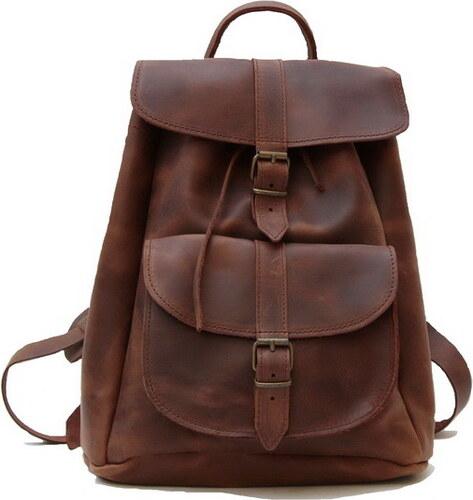Δερμάτινη τσάντα πλάτης με 1 τσέπη (ΧΡΩΜΑ ΚΑΦΕ ΚΕΡΙΟΥ) - Glami.gr b35d37a1070