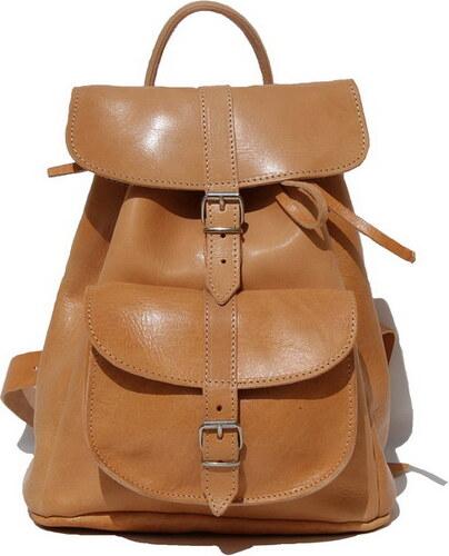 Δερμάτινη τσάντα πλάτης με 1 τσέπη (ΧΡΩΜΑ ΦΥΣΙΚΟ) - Glami.gr dfd72bafa3e