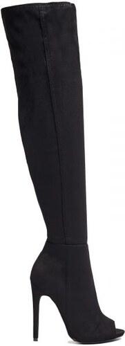 948248cfc3d MIGATO Μαύρη σουέντ μπότα πάνω από το γόνατο - Glami.gr