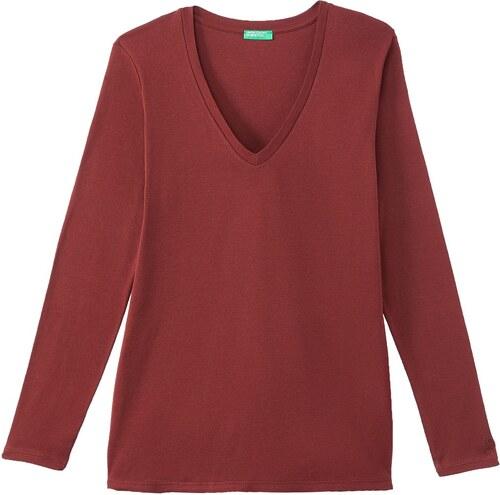 1e87310241d7 BENETTON Μακρυμάνικη μπλούζα με V - Glami.gr